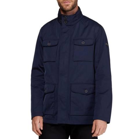 Hackett London Navy Padded Field Jacket