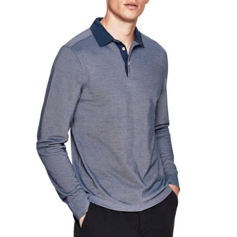 Hackett London Indigo Oxford Cotton Polo Shirt