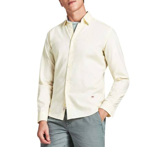Hackett London Yellow Pinpoint Oxford Cotton Shirt