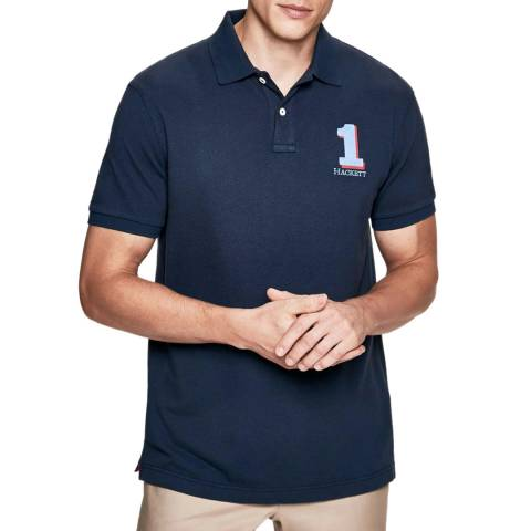 Hackett London Navy New Classic Cotton Polo Shirt