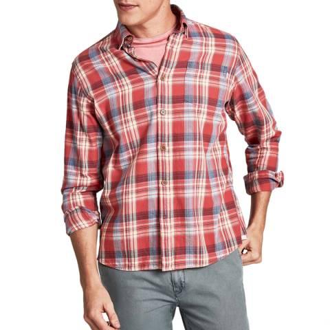 Hackett London Red/Multi Plaid Check Cotton Shirt
