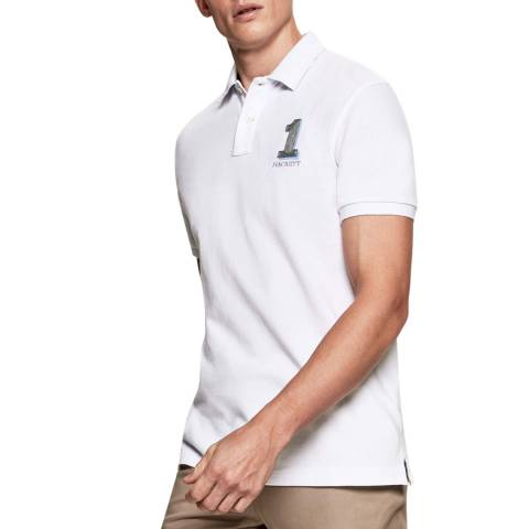 Hackett London White New Classic Cotton Polo Shirt