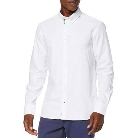 Hackett London White Placket Oxford Slim Cotton Shirt