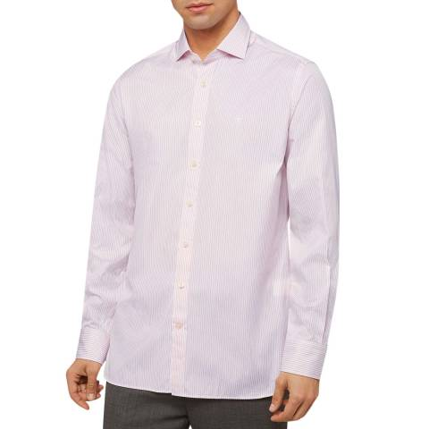Hackett London Pink Stripe Slim Cotton Shirt