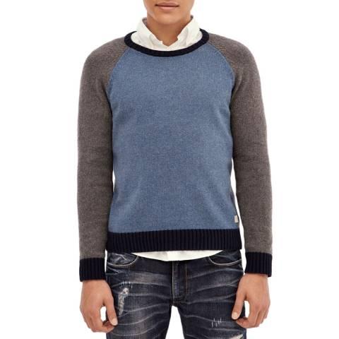 Hackett London Multi Colourblock Wool Blend Jumper
