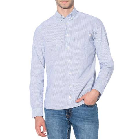 Hackett London White/Red Bengal Slim Cotton Shirt