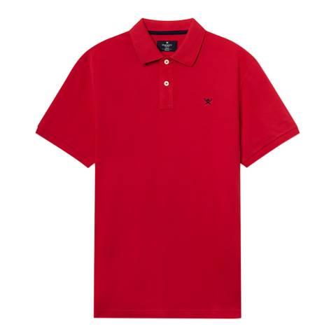 Hackett London Red Slim Logo Polo Shirt