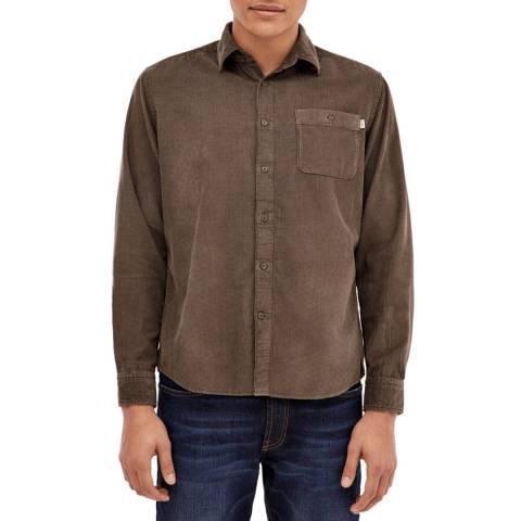Hackett London Khaki Garment Dye Corduroy Trousers