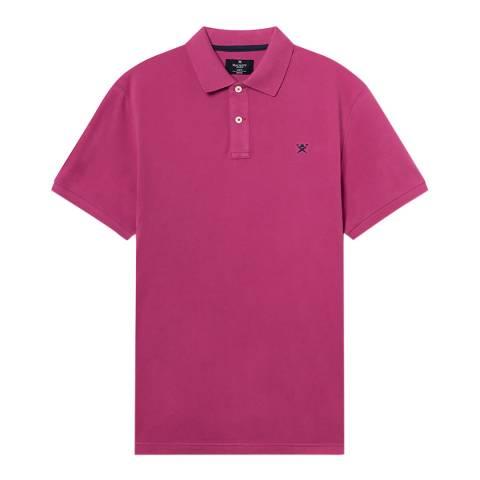 Hackett London Pink Logo Slim Cotton Polo Shirt