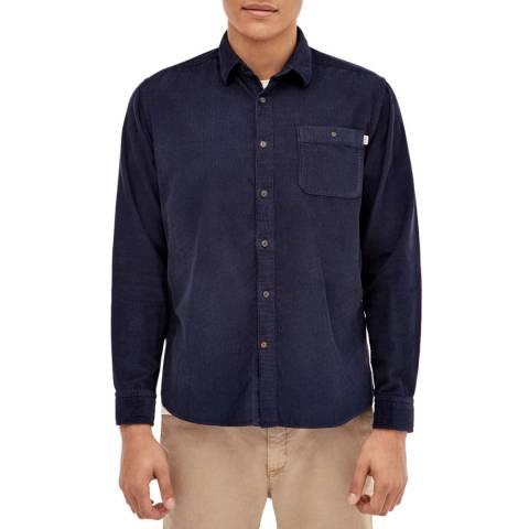 Hackett London Ink Corduroy Cotton Shirt
