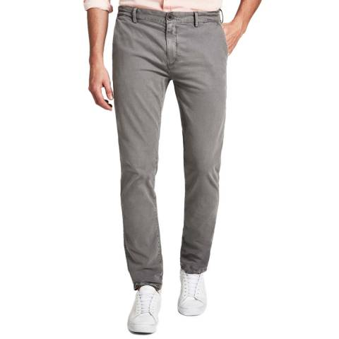 Hackett London Grey London Regular Stretch Chinos
