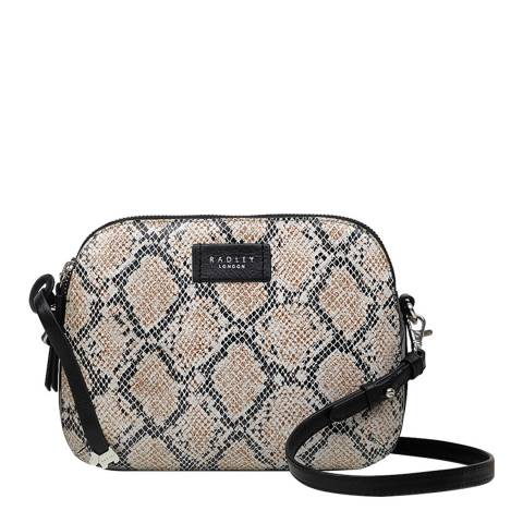 Radley Grey Dukes Place Snake Medium Crossbody