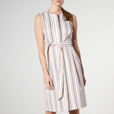 L K Bennett Cream Catrin Tie Belt Dress