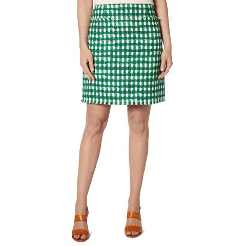 L K Bennett Green Tammy Mini Skirt