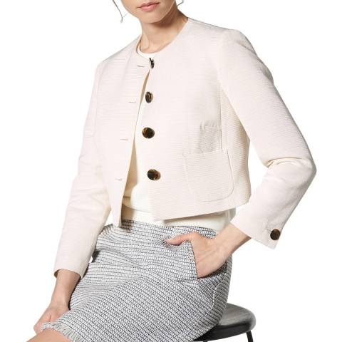 L K Bennett Cream Cari Ottomon Jacket