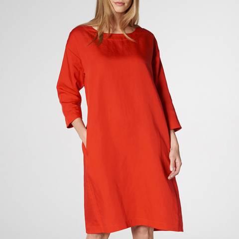 L K Bennett Red Lau Waistless Dress