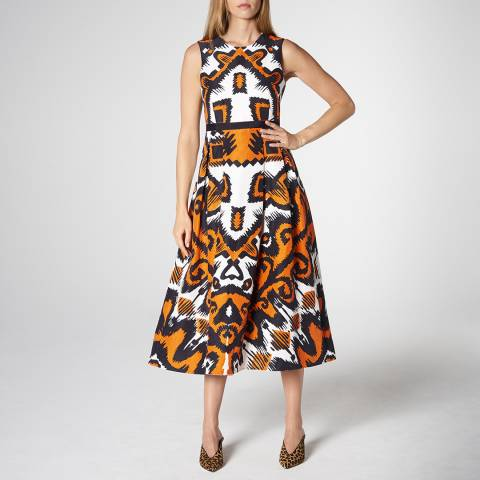 L K Bennett Orange Andrea Tribal Dress