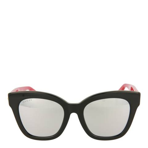 Gucci Women's Black/Red Cat Eye Sunglasses