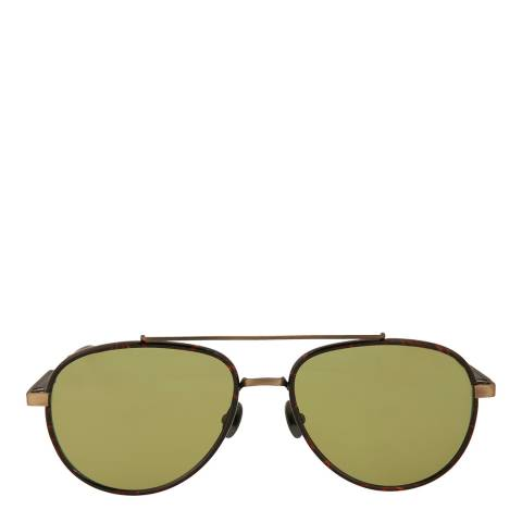Bottega Veneta Unisex Green Lens Aviator Sunglasses