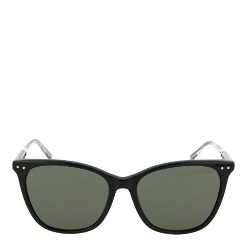 Bottega Veneta Women's Black Tortoiseshell Square Sunglasses