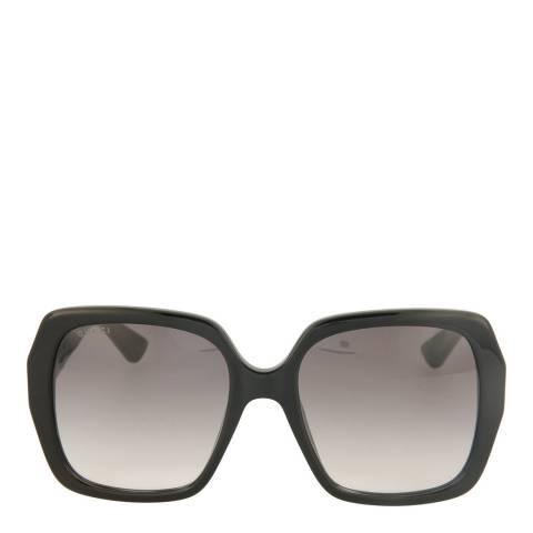 Gucci Women's Black Bee Oversized Sunglasses