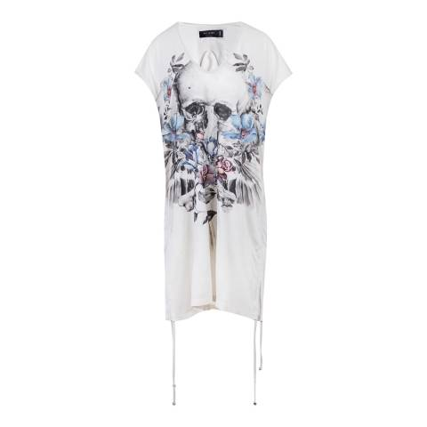 Religion White Multi Hero Dress