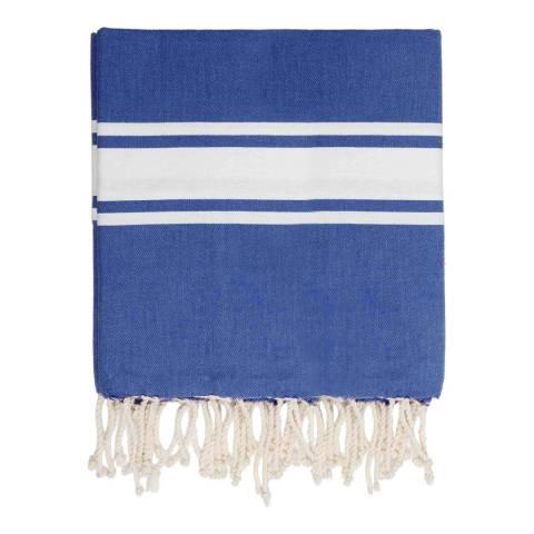 Febronie St Tropez XXL Hammam Towel/Blanket, Greek Blue