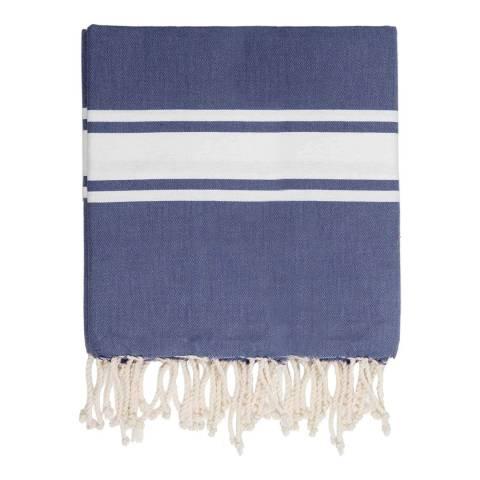 Febronie St Tropez XXL Hammam Towel/Blanket, Denim Blue