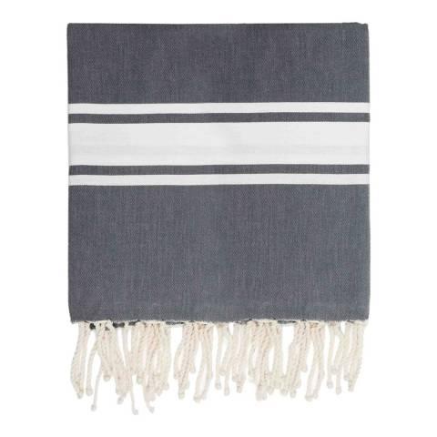 Febronie St Tropez XXL Hammam Towel/Blanket, Medium Grey