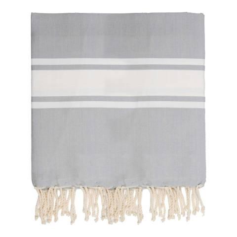 Febronie St Tropez XXL Hammam Towel/Blanket, Pearl Grey