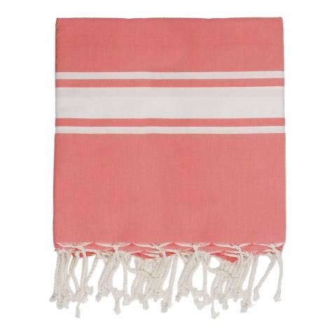 Febronie St Tropez XXL Hammam Towel/Blanket, Coral Orange