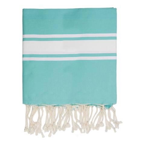 Febronie St Tropez XXL Hammam Towel/Blanket, Turquoise Green