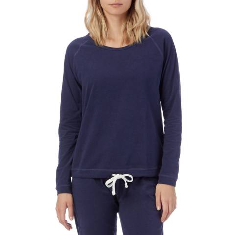 N°· Eleven Blue Marl Cotton Jersey Drawstring Hem Top