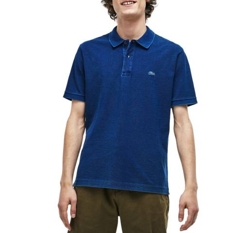 Lacoste Navy Classic Fit Stretch Polo Shirt