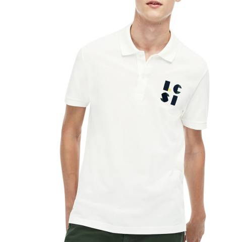 Lacoste Ecru Regular Fit Polo Shirt