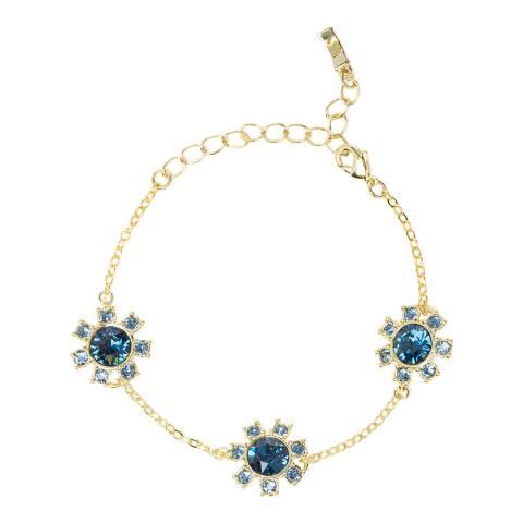 Ted Baker Gold Blue Crystal Clockwork Bracelet