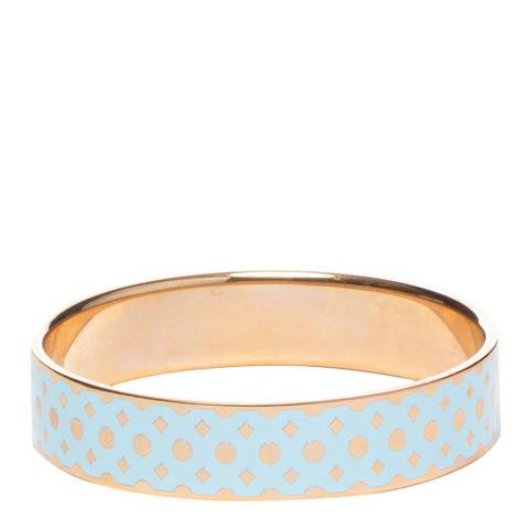 Ted Baker Rose Gold Blue Mosaic Enamel Bangle