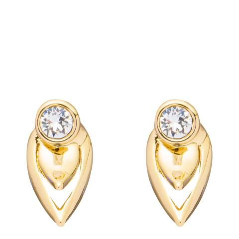 Ted Baker Gold Cut Out Stud Earrings