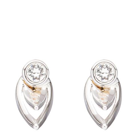 Ted Baker Silver Cut Out Stud Earrings