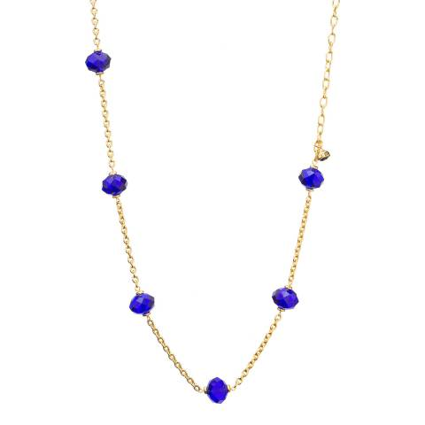 Ted Baker Gold Crystal Bead Long Chain Necklace