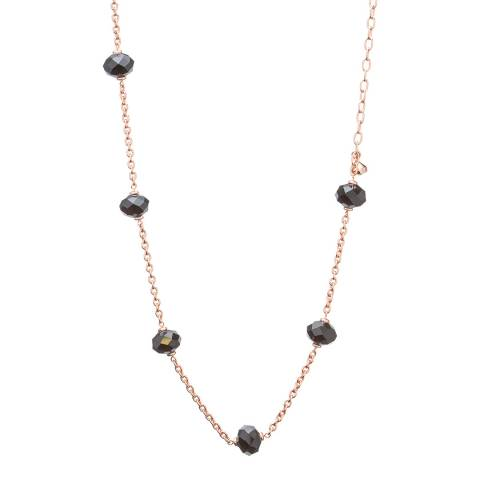 Ted Baker Rose Gold Crystal Bead Long Chain Necklace