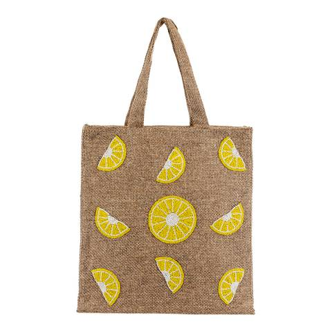 Alex Max Lemon Woven Tote Bag