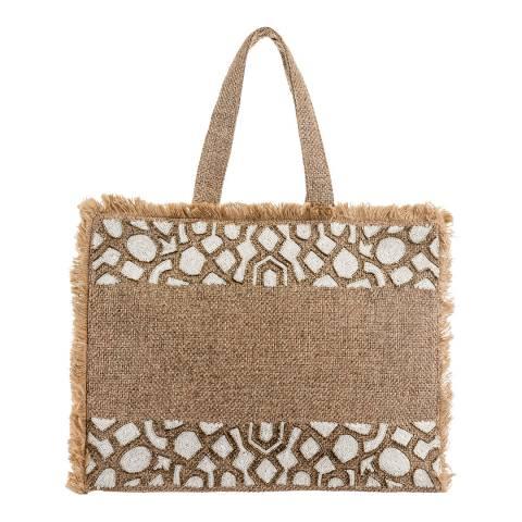 Alex Max White Sequinned Handbag