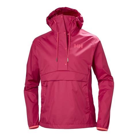 Helly Hansen Women's Red Loke Packable Anorak Jacket