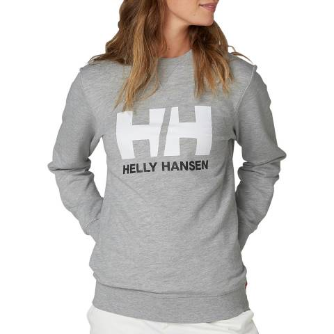Helly Hansen Grey Logo Crew Sweatshirt