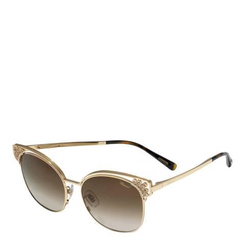 Chopard Women's Gold Chopard Sunglasses 57mm