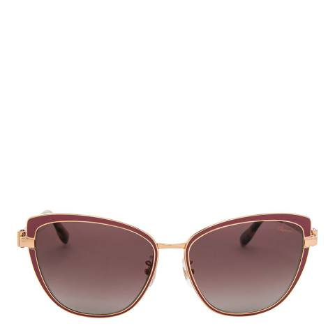Chopard Women's Gold/Red Chopard Sunglasses 57mm
