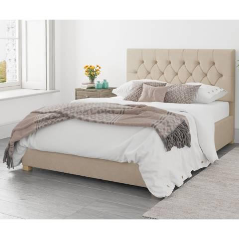 Aspire Furniture Ottoman Luxury Linen - Beige - Small Double (4')