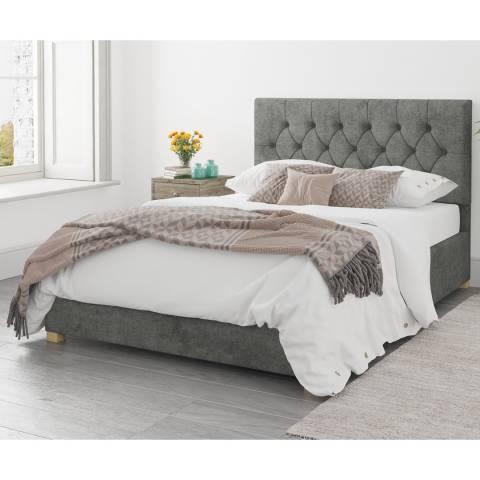 Aspire Furniture Ottoman Luxury Linen - Granite - Small Double (4')