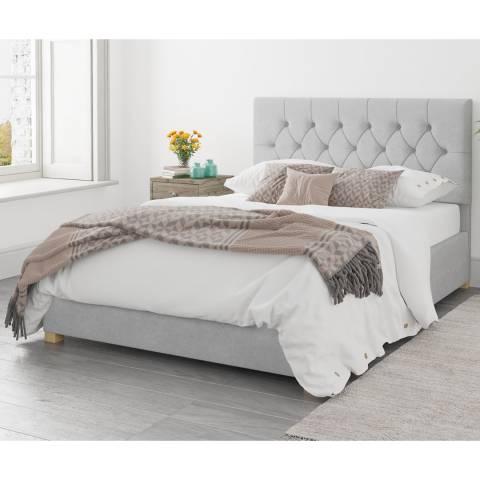 Aspire Furniture Ottoman Luxury Linen - Silver - Single (3')